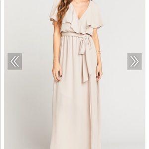 AUDREY MAXI DRESS ~ SHOW ME THE RING CRISP